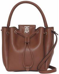 Burberry Monogram-motif Bucket Bag - Brown