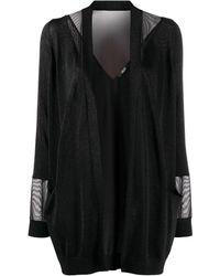 Liu Jo Two-tone Knitted Cardigan - Black