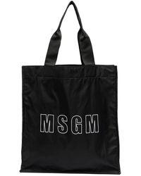 MSGM Сумка-тоут С Логотипом - Черный