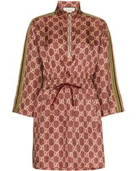 Gucci Robe courte à motif GG Supreme - Multicolore