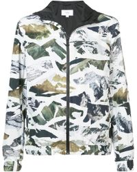 Aztech Mountain Electric Pass Packable Hoodie - White