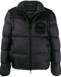 Emporio Armani Layered Padded Jacket - Black