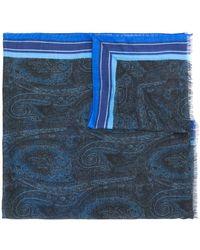 Etro Sjaal Met Paisley-print - Blauw