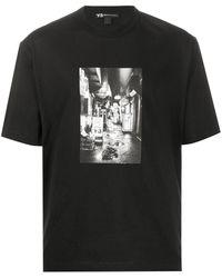 Y-3 グラフィック Tシャツ - ブラック