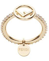 Fendi Декорированное Кольцо С Логотипом - Металлик