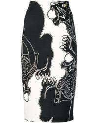 Class Roberto Cavalli - Lion Print Pencil Skirt - Lyst