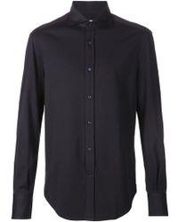 Brunello Cucinelli Классическая Рубашка - Синий