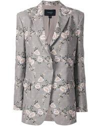Giambattista Valli Floral Embroidered Blazer - Gray