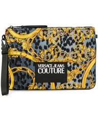 Versace Jeans Couture レオパード クラッチバッグ - マルチカラー