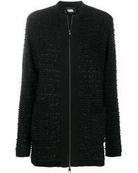 Karl Lagerfeld Твидовый Кардиган - Черный