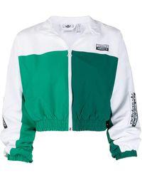 adidas Veste zippée crop - Vert