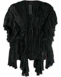 Rick Owens ドレープ ジャケット - ブラック
