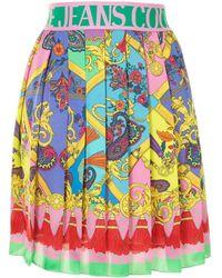 Versace Jeans Couture Плиссированная Юбка С Принтом Baroque - Розовый