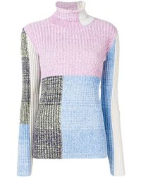 3.1 Phillip Lim Marled Mixed-patchwork Turtleneck - Многоцветный