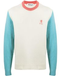 Pringle of Scotland Archive Colour-block Lambswool-blend Sweater - White