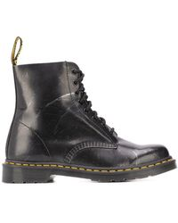 Dr. Martens 1460 Metallic Detail Boots - Black