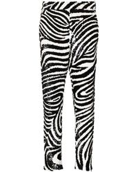 Ashish Zebra-print Sequin-embellished Pants - Black