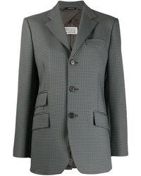Maison Margiela チェック シングルジャケット - グレー