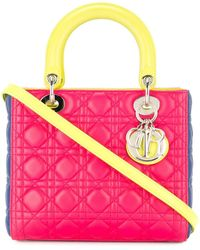 Dior Pre-owned Lady Dior 2way Hand Bag - Pink