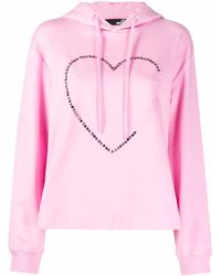 Love Moschino Худи С Логотипом И Заклепками - Розовый