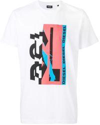 DIESEL プリント Tシャツ - ホワイト