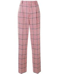 Gucci Straight-leg Check Trousers - レッド