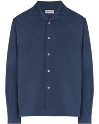 Reception Spread-collar Buttoned Shirt - Blue