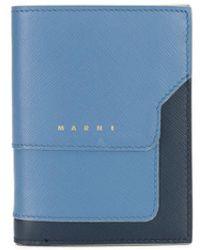 Marni Rechthoekige Portemonnee - Blauw