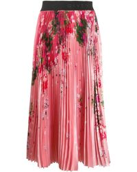Givenchy Floral Print Pleated Skirt - Multicolor