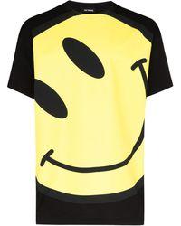 Raf Simons ブラック Smiley オーバーサイズ T シャツ