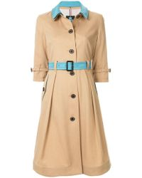 Guild Prime - Contrast Belted Trench Coat - Lyst