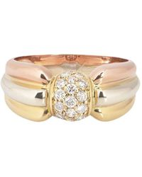 "Cartier ""кольцо Trinity Pre-owned Из Желтого, Белого И Розового Золота С Бриллиантами"" - Металлик"