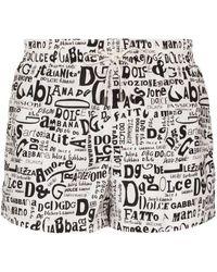 Dolce & Gabbana プリント トランクス水着 - ホワイト