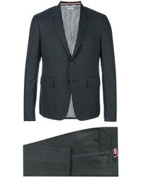 Thom Browne Costume slim à simple boutonnage - Gris