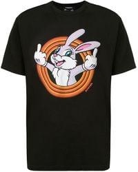DOMREBEL T-shirt à imprimé Humper - Noir