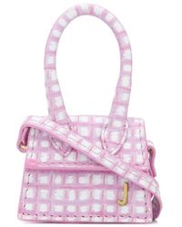 Jacquemus Le Petit Chiquito Check Micro Bag - Pink