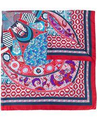 Ferragamo Sjaal Met Print - Rood