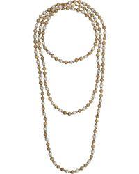 Dior Collier multi-rangs à perles - Métallisé