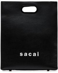 Sacai Medium Logo Print Shopper Bag