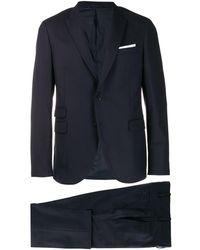 Neil Barrett Classic Tailored Suit - ブルー