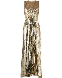 Elisabetta Franchi スパンコール イブニングドレス - メタリック
