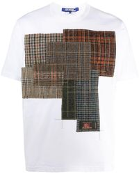 Junya Watanabe - チェック パッチワーク Tシャツ - Lyst