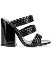 KENZO Strappy Mule Sandals - Black