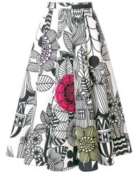 Junya Watanabe | Sketch Print Midi Skirt | Lyst