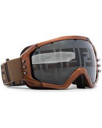 Fendi Лыжные Очки С Логотипом - Коричневый