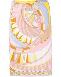Emilio Pucci Юбка С Абстрактным Принтом - Многоцветный