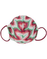 Missoni Abstract Print Face Mask - Pink