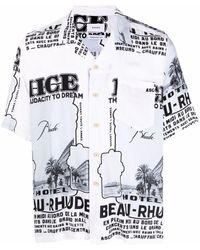 Rhude グラフィック シャツ - ホワイト