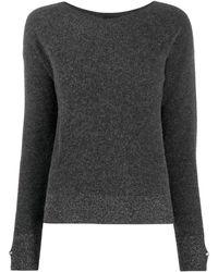 Liu Jo Glitter Detail Knitted Jumper - Grey