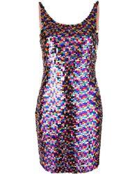 Moschino - Robe courte brodée de sequins - Lyst